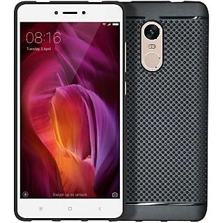 Redmi Note 4 Soft Black Dotted Back Cover