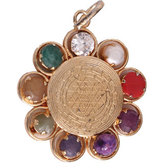 Buy shri yantra pendant with navaratna online get 30 off shri yantra pendant with navaratna mozeypictures Choice Image
