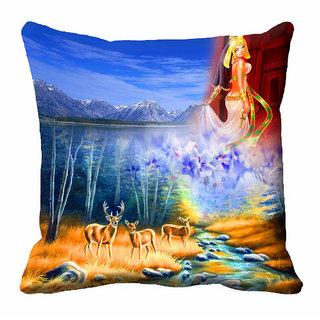meSleep 3D Beautiful Nature Cushion Cover (18x18) - 18CD-92-077