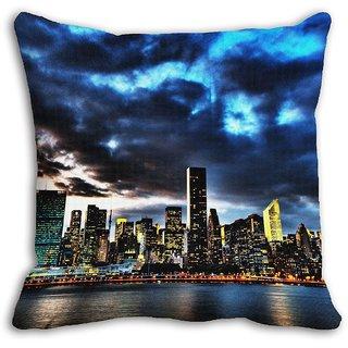 Mesleep Blue Cloudy Digitally Printed Cushion Cover - 20CD-08-044