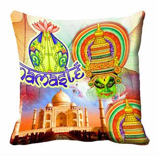 meSleep 3D Namaste Cushion Cover (18x18) - 18CD-92-018