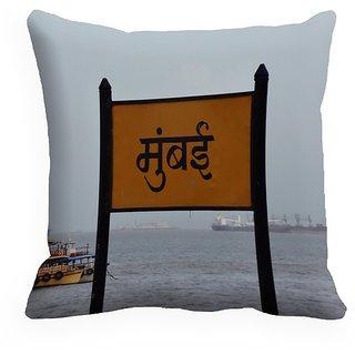 meSleep Mumbai Digitally Printed Cushion Cover (18x18) - 18CD-mumbai-2