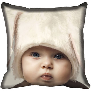 meSleep Kid Face Digitally Printed Cushion Cover (18x18) - 18CD-45-078