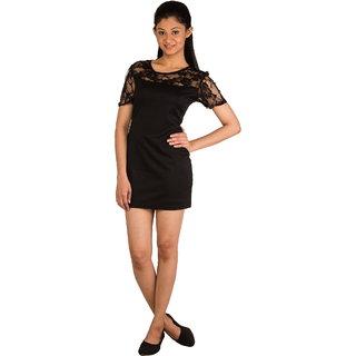 Modo Vivendi | Clubwear Short Sleeves Casual Mini Slim Cotton Lace Dress