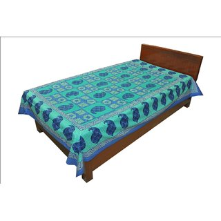 Latest Designer Paisley print Single Bed Sheet Bed Spread SRB2149