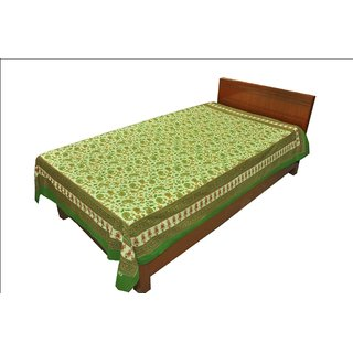 Export Quality Sanganeri Print Single Bed Sheet SRB2151