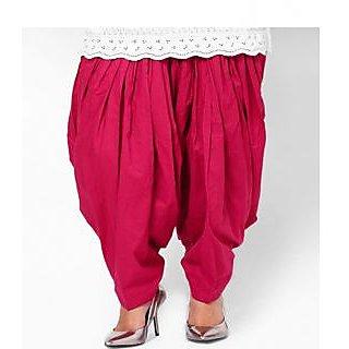 KRISO Stunning Pink Cotton Patiala Salwar
