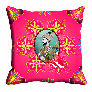 meSleep Abstract Raja Cushion Cover (20x20) - 20CD-92-158