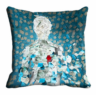 meSleep Man Pattern Cushion Cover (20x20) - 20CD-92-104