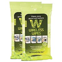 Maven Gifts: Wireless Wipes 2-Pack Bundle - Green Tea Cucumber - Cell Phone and Portable Electronic Device Sanitizing Wipes