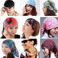 Pickadda Unisex Yoga Hair Band/sports Headband Anti-slip Elastic Rubber Multipurpose Headband (multicolor)