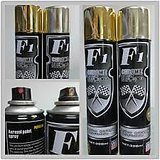 Funkydealz F1 Chrome Spray Paint Car Bike Auto Metal- Gold, For Painting Metal, Wood, Plastic, Walls, Auto Accessories