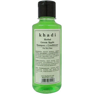 Khadi Herbal Green Apple Shampoo + Conditioner 210ml