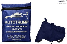AUTOTRUMP Body Cover With Mirror Pocket Without Mirror Pocket For Bajaj Discover 150F