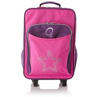 Obersee Kids Rolling Luggage with Integrated Snack Cooler, Rhinestone Star
