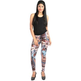 Pari Multicolour Printed Cotton Designer Leggings For Women