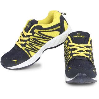 Axter Men-304 Yellow/Blue Running Shoes