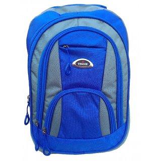 Blue 20-30 L Fabric School Bag
