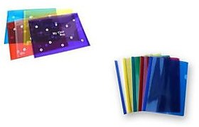 Clear Bag  Milky file - COMBO- ( Set of 5 each) - Free Republic Day Gift