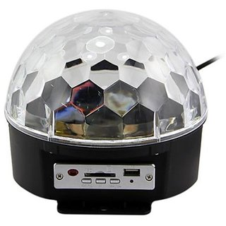 18w Rgb LED Crystal Magic Ball Stage Lighting Disco Dj Rotation With MP3