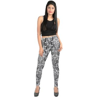 Pari Black Cotton Leggings