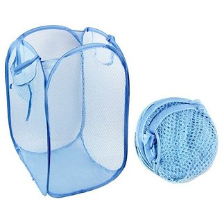 De Ultimate Foldable Laundry Bag Mesh Laundry Basket Kids Toys Clothes storage Bag