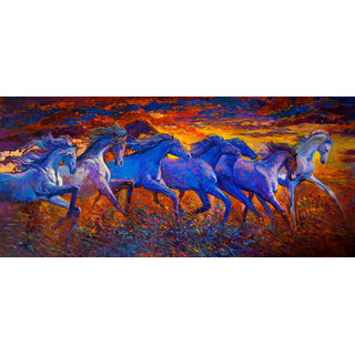 Running Horse 12 x 18 Inch Laminated Poster
