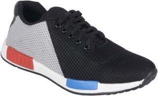 Running rider Black Net Men's Casual Shoes