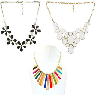 Minha Oxidised Multicolor Alloy Necklace Set For Women