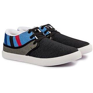 Pan Lifestyle Men Black Lace-Up Casual Shoes