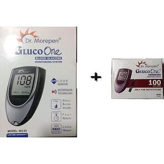 Dr. Morepen BG03 Glucometer (With 100 Test..