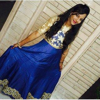Fancy Anarkali Suit Blue Colour
