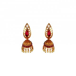 Aashish Imitation Traditional Pink Jhumki Earring