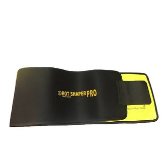 IBS Hot Shapers Pro Free Size Sweat Waist Trimmer Fat Burner Belly Tummy Yoga Wrap Black Exercise Body Slimming Belt
