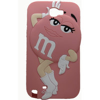 Snooky Peach Disgner Soft Back Cover For Samsung Galaxy Note 2 N7100 Td10719