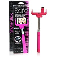 Tzumi ShutterStick Universal Selfie Stick with Bluetooth Wireless Shutter Function, Built-in Mirror for Rear Camera Extendeds up to 39