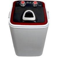 Lonik Portable Mini washing machine 4.6kg wash  2kg Dry Semi automatic- Red
