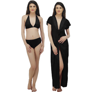 51a229e449 Buy Arlopa Robe With Bra And Panty Online - Get 75% Off