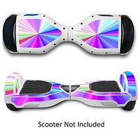 Two Wheels Self Balancing Electric Scooters Vinyl Stickers Balance Board Skins Hover Boards Protective Decals Skate Board Covers for Smart Bluetooth Mobility Scooter - Rainbow