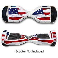 Two Wheels Self Balancing Electric Scooters Vinyl Stickers Balance Board Skins Hover Boards Protective Decals Skate Board Covers for Smart Bluetooth Mobility Scooter - Star & Strips