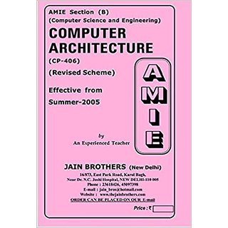 AMIE-Section(B) Computer Architecture (CP-406) Computer Science and Engineering Solved and Unsolved Paper