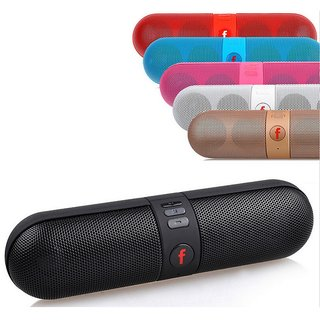 Other Capsule Pill Portable Wireless Bluetooth Stereo Speaker-FM-Aux-Input-USB-SD Card