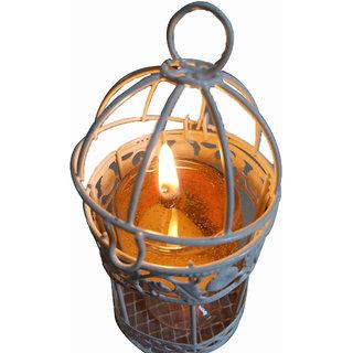 Decorative Glass Diyas (Large) Orange