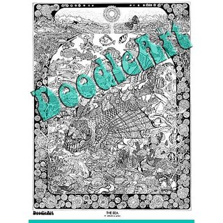 Buy The Original Doodle Art The Sea Adult Coloring Poster Online ...