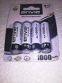 ENVIE 1000 MAH RECHARGEABLE AA BATTERIES 4 pc