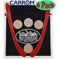 Carrom Nok Hockey Replacement Equipment Set Includes 2 Sticks, 4 Pucks & Bonus