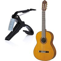 Flexzion Guitar Capo Acoustic Single-Handed Quick Change Key Trigger Tune Clamp with Soft Rubber Pad for Folk Classical Electric Music Instrument Accessories Portable in Black