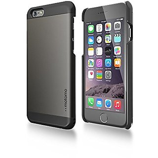 iPhone 6 Case, MOTOMO [Black] [INO Metal AL1] iPhone 6 (4 7 inch) Case  Aluminum [Brushed Aluminum] [Straight Edges] Metal Cover Protective Case  for