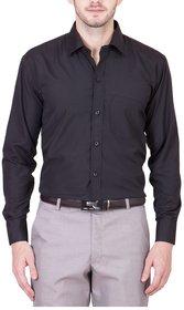 Akaas Black Full sleeves Formal Shirt For Men