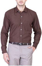 Akaas Brown Full sleeves Formal Shirt For Men